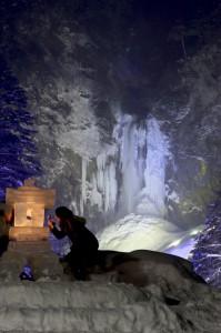 平湯大滝ライトアップ