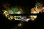 「新穂高の湯」紅葉ライトアップ